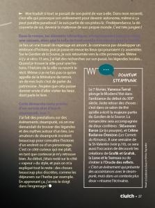 Interview de Vanessa Terral pour Le Gardien de la Source, dans le Clutch magazine culturel de Toulouse, n°38 février 2016 page 2