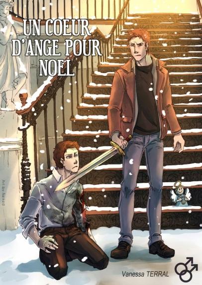 Novella Un cœur d'ange pour Noël (coeur), par Vanessa Terral, romance pararnormale yaoi, romance gay homosexuelle, urban fantasy, Nantes